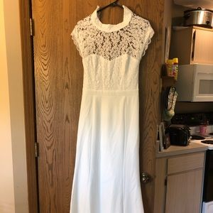 Beautiful white floor length dress from Lulus
